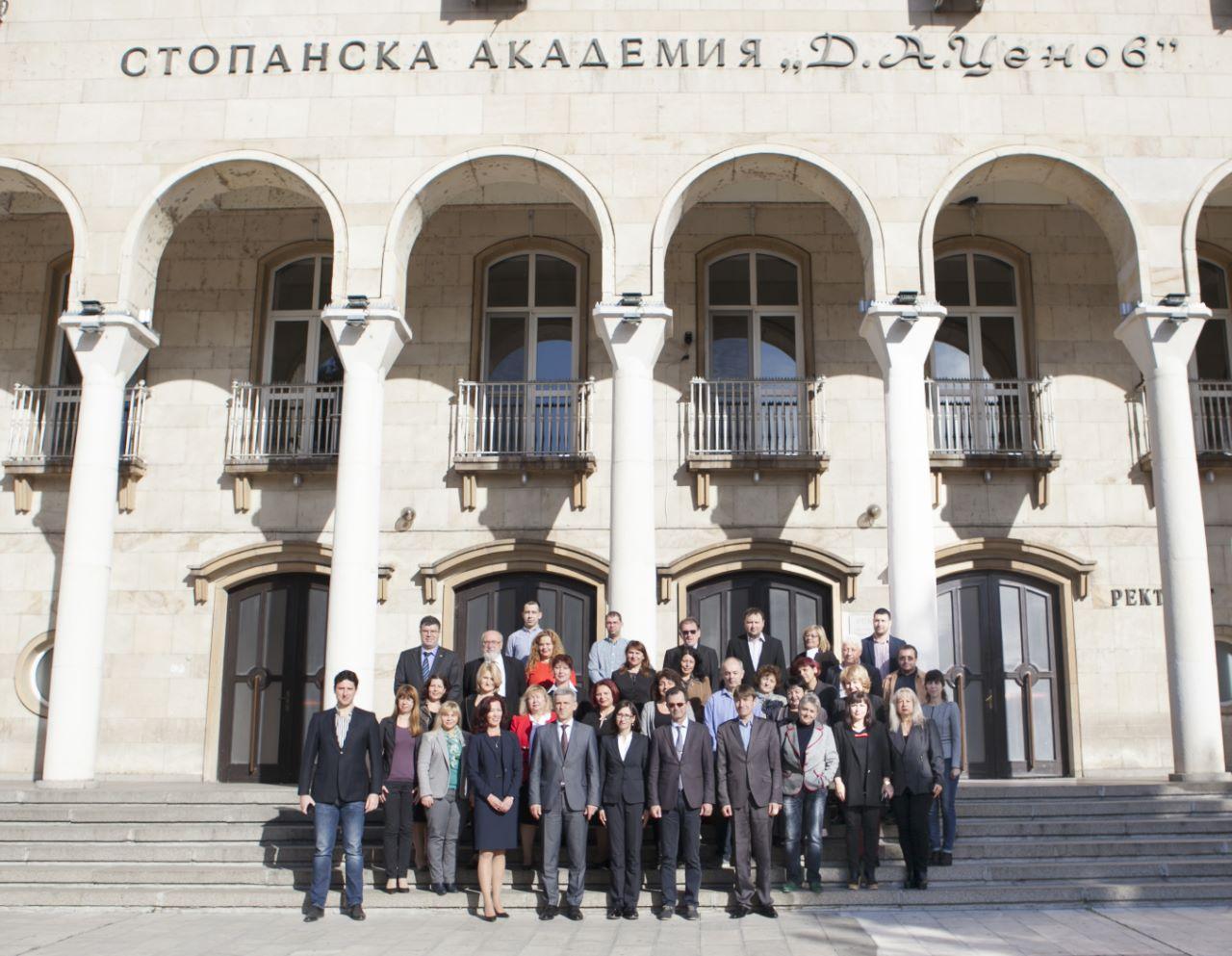 В деня на създаването преди 525 год. на счетоводната наука в Стопанска академия дебатираха обучението в докторантура по икономика (10.11.2019)