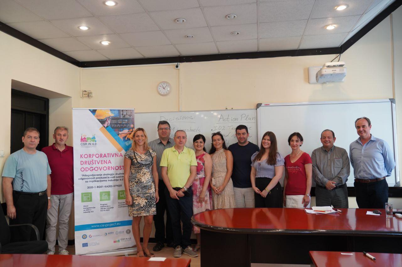 """Работна среща по координиран от СА """"Д. А. Ценов"""" проект по програма Еразъм + събра в Ниш изследователи от четири държави (15.07.2021 г.)"""