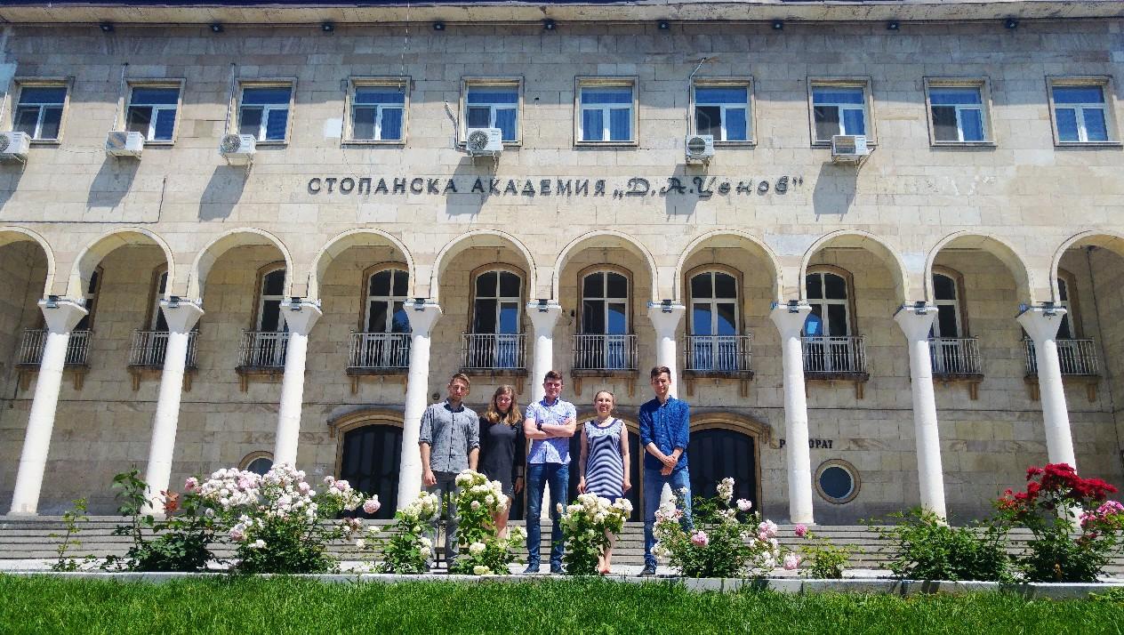 """Успешна сесия за първия випуск украински магистри-финансисти по проекта """"двойна диплома"""" (12.6.2018 г.)"""